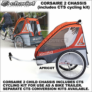 2013 Chariot Corsaire 2 Child Bike Trailer (Corsaire2 CTS Chassis w/ CTS Cycling Kit Included) - Touring Chariot Carriers Double Baby Joggers, Strollers, Trailers & Ski Pulks