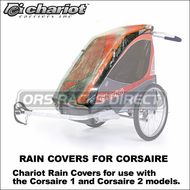 2013 Chariot Corsaire Rain Covers - Protective Rain Covers for Corsaire 1 and Corsaire 2 Carriers