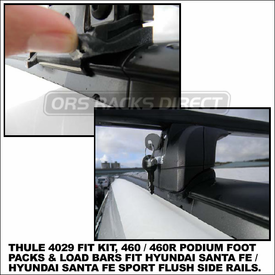2013 Hyundai Santa Fe Sport Roof Rack using Thule 460R Rapid Podium (includes Foot Pack, 4029 Fit Kit & ARB47 AeroBlade Bars)