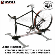 2013 Inno INA383 Fork Lock II Bike Rack - Mounts Directly to Any Crossbars Including Factory Racks