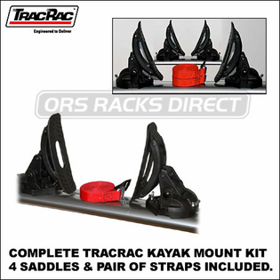 2013 Malone MPG1001 TracRac Kayak Mount Kit (44300) - Complete Kayak Rack for Trac Rac Truck Rack & Van Rack Crossbars