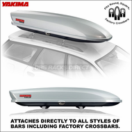 2013 Silver Yakima SkyBox Pro 12 Roof Box - Factory Rack Compatible Cargo Box - 8007176