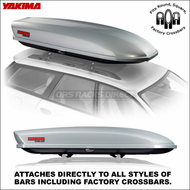 2013 Silver Yakima SkyBox Pro 18 Cargo Box - Factory Rack Compatible Roof Box - 8007182