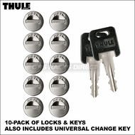 2013 Thule Lock Cylinders (10 pack of Thule Locks & Keys) - 510