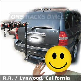 Acura MDX Bike Rack with Yakima FullSwing 4 Bike Hitch Rack