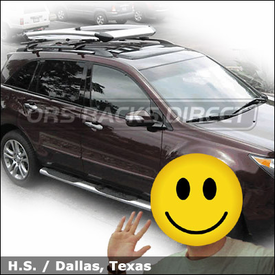 Acura MDX with Thule 450 Crossroad Roof Rack and Thule 696 Xpedition Roof Basket