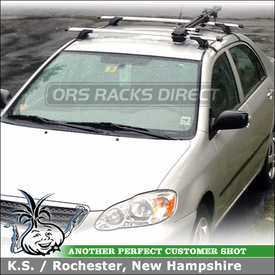 Aerodynamic and Quiet Car Rack with Bike Holder for a 2006 Toyota Corolla Sedan