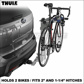All-New 9043 and 9042 Thule Helium Aero Trailer Hitch Mount Bike Racks