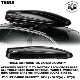 All-New Waterproof, Locking Thule 625 Force XL Roof Cargo Box