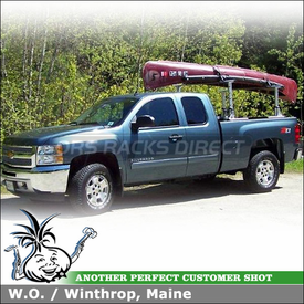 Canoe Truck Rack In 2012 Chevy Silverado Ext Cab Pickup Truckbed - Thule 422XT Xsporter Truck Rack