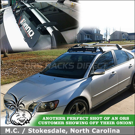 Car Fairing for 2005 Volvo S40 OEM Roof Rack Cross Bars