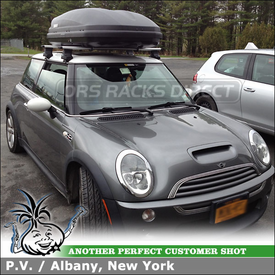 Car Rack Cargo Box for 2003 Mini Cooper - AeroBlades and 604 Ascent 1600 Box