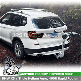 Car Roof Rack Cross Bars and Hitch Bike Rack for 2013 BMW X3 Trailer Hitch and Flush Side Rails