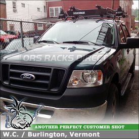 Cargo Basket, 4 Bike Racks and Roof Rack Cross Bars for 2008 Ford F150 Crew Cab Tracks