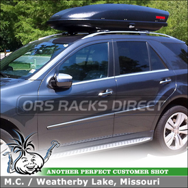 Cargo Carrier and Low-Profile Cross Bars for Raised Side Rails On 2010 Mercedes ML350 4Matic SUV