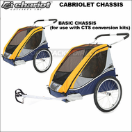 Chariot Cabriolet Double Bike Trailer (Cabriolet CTS Chassis Only - CTS Cycling Kit NOT Included) - Touring Chariot Carriers 2 Child Strollers, Baby Joggers & Trailers