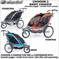 Chariot Chinook 2 Double Baby Jogger-Baby Stroller (Chinook2 CTS Chassis w/ Front Wheel) - Performance Urban Chariot Carriers Two Child Strollers, Joggers