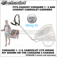 Chariot Corsaire 1 / 2 and Cabriolet CTS Hiking Kit - Chariot Single & Double Child Hiking Trailer Conversion Kit for Corsaire & Cabriolet Chassis