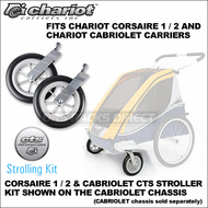 Chariot Corsaire 1 / 2 and Cabriolet CTS Strolling Kit - Chariot Single & Double Baby Stroller Conversion Kit for Corsaire & Cabriolet Chassis