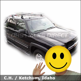 Chevrolet Avalanche with Thule 400XTR Rapid Aero Roof Rack System