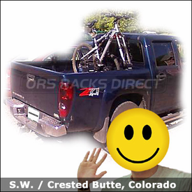 Chevy Colorado with Yakima Locking BedHead Truck Bike Racks