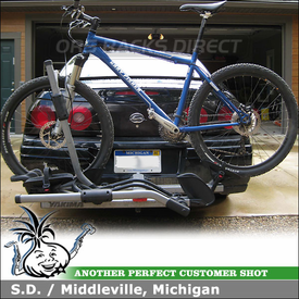 Chevy Impala Hitch Mount Bike Rack with Yakima HoldUp for 1.25 inch Trailer Hitches