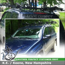 Chevy Trailblazer Roof Channel Car Rack for Carrying 2 Kayaks and 2 Bikes