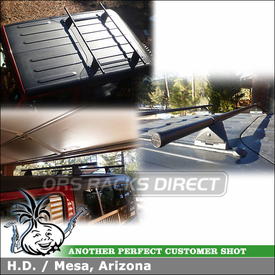 Custom Roof Rack for Removable Hardtop Roof Panels on a 2013 Jeep Wrangler JK Rubicon