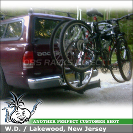 Dodge Dakota Hitch Bike Rack using Thule 964 Revolver Swing-Away 4 Bike Hitch Rack