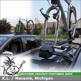 Factory Car Rack Compatible Bike Holder for a 2010 Chrysler Town and Country Minivan