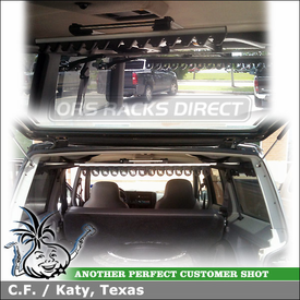 Fishing Rods Rack for Inside 1995 Jeep Cherokee XJ Sport using Inno ZR355 Pro First Strike