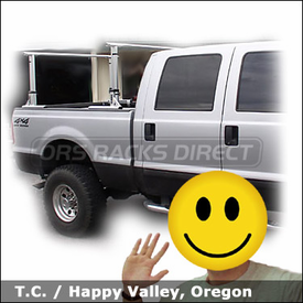 Ford Crew Cab Pickup Truck with Thule 422 Xsporter Truck Rack