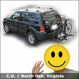 Ford Escape Hitch Bike Rack with SportRack 2EZ Platform Bike Rack