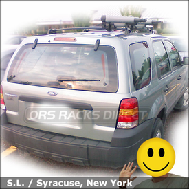 Ford Escape Kayak Rack with Yakima BowDown J-Kayak Carrier