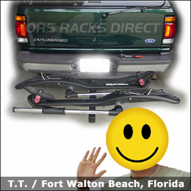 Ford Explorer Hitch Bike Rack with Yakima HookUp Platform Bicycle Carrier