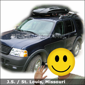 Ford Explorer Roof Rack with Yakima Lowrider System, Viper Bike Racks and Thule Spirit Luggage Box