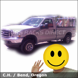 Ford F250 Truck Rack with TracRac Track Rack System