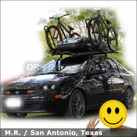 Ford Focus Bike Roof Rack & Cargo Carrier with Yakima Control Towers (LP7), King Cobra and Thule Cargo Carrier
