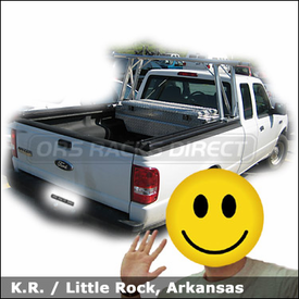 Ford Ranger Truck Rack with TracRac Track Rack System