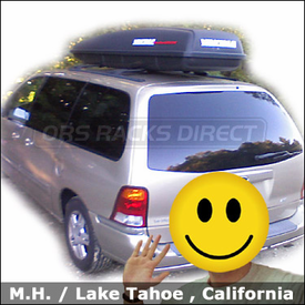 Ford Windstar Roof Rack Luggage Box with Yakima RocketBox Cargo Pod