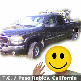GMC Sierra Truck Rack with Trac Rac Sliding Track Rack System