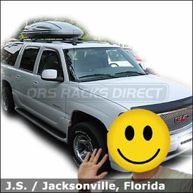 GMC Yukon XL Roof Box for Luggage with Thule 686XT Atlantis 1600 Cargo Box
