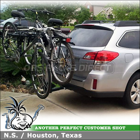 Hitch Bike Rack for 2012 Subaru Outback Trailer Hitch using Inno INH301 Aero Light 4 Bike Hitch Rack