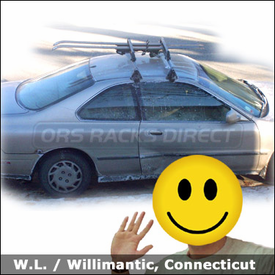Honda Accord Coupe Ski Roof Rack with Yakima Q Tower System & Buttondown Aero