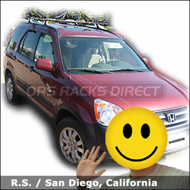 Honda CR-V Roof Rack for Kayaks with Thule 430 Tracker II Car Rack & 883 Glide and Set Kayak Carriers