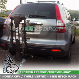 Honda CRV Tilt-Down Hitch Bike Rack for 1.25 and 2 inch Trailer Receiver Hitches