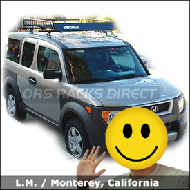 Honda Element Basket Rack with Yakima Control Towers System and Yakima MegaWarrior Roof Basket