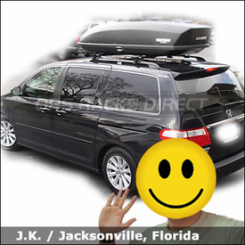 Honda Odyssey Roof Rack Luggage Box with Yakima Lowrider System & Yakima SkyBox 21 Cargo Box