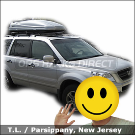Honda Pilot Roof Rack Luggage Box with Thule 450 CrossRoad and Thule 687XT Atlantis 1800 Cargo Box