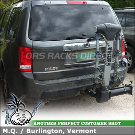Honda Pilot Trailer Hitch Bike Rack using Thule 9027 Apex Swing-Away 4 Bike Hitch Rack